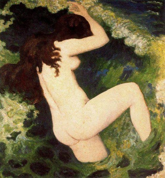 Aristide Maillol, Die Welle, um 1896, Öl auf Leinwand (Musée du Petit Palais, Paris)