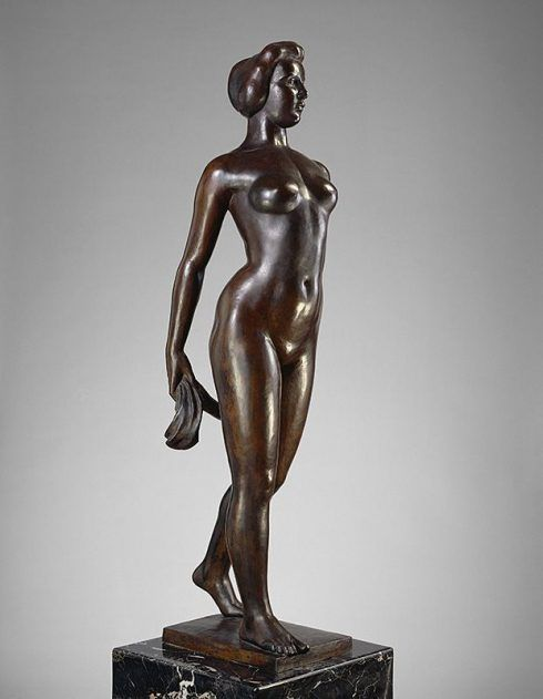 Aristide Maillol, Île-de-France, um 1910, Bronze (Kansas City, Missouri, The Nelson-Atkins Museum of Art)