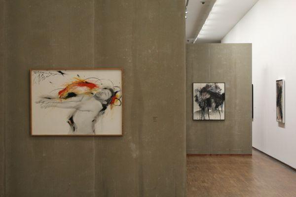 Arnulf Rainer, Schranken, 1974/75, Albertina, Ausstellungsansicht, Foto: Alexandra Matzner.