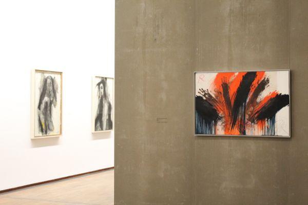 Arnulf Rainer, Ausstellungsansicht, Foto: Alexandra Matzner.