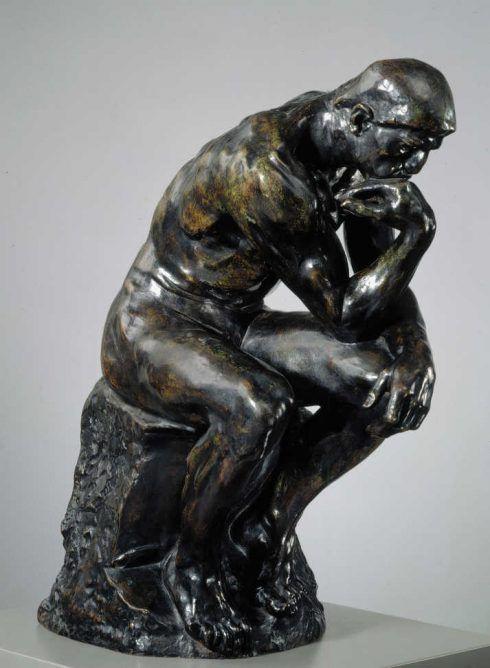 Auguste Rodin, Der Denker, um 1880, Bronze, 34,5 x 63 cm (Kunstmuseum Ateneum, Staatliches Kunstmuseum Finnland, Helsinki © Staatliches Kunstmuseum Finnland, Zentrales Kunstarchiv, Hannu Aaltonen)