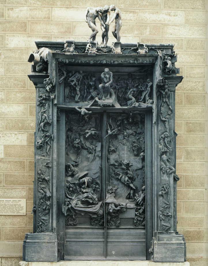 Auguste Rodin, Das Höllentor, um 1890, erster Bronzeguss des Portals postum 1926 (Musée Rodin, Paris)