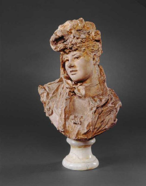Auguste Rodin, Büste einer Frau, um 1875 (Washington, D.C., District of Columbia, The National Gallery of Art)