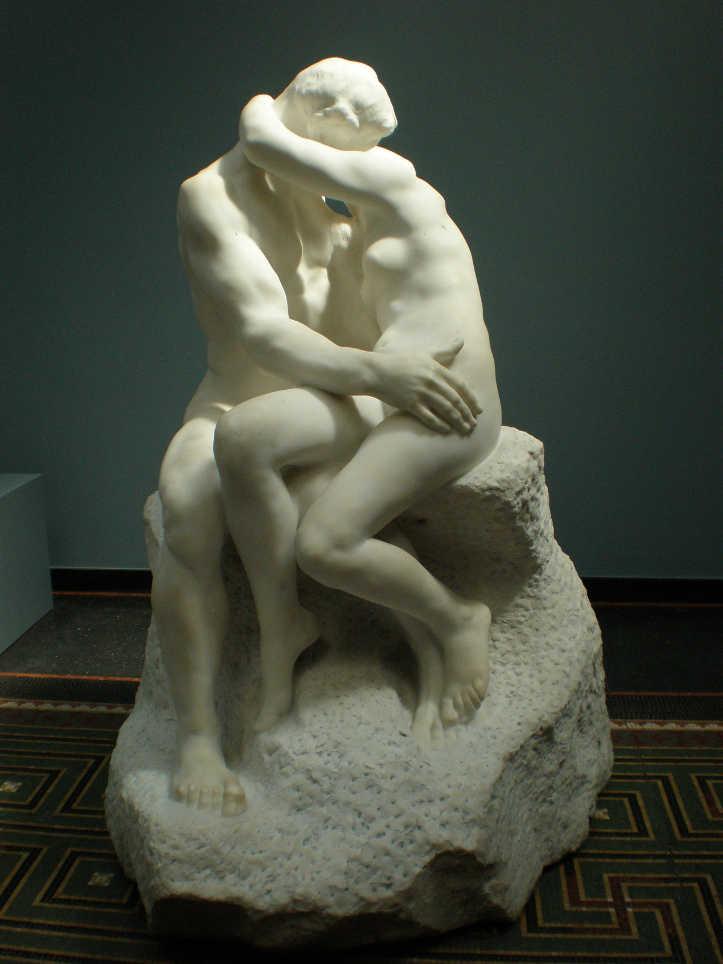Auguste Rodin, Der Kuss, 1886, Marmor, dritte Kopie der Skulptur (Ny Carlsberg Glyptotek, Kopenhagen), Foto: Philipp Weissenbacher