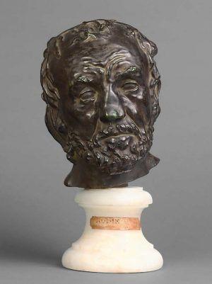 Auguste Rodin, Mann mit gebrochener Nase, 1862–1864, Typ II (Musée d`Orsay, Paris)