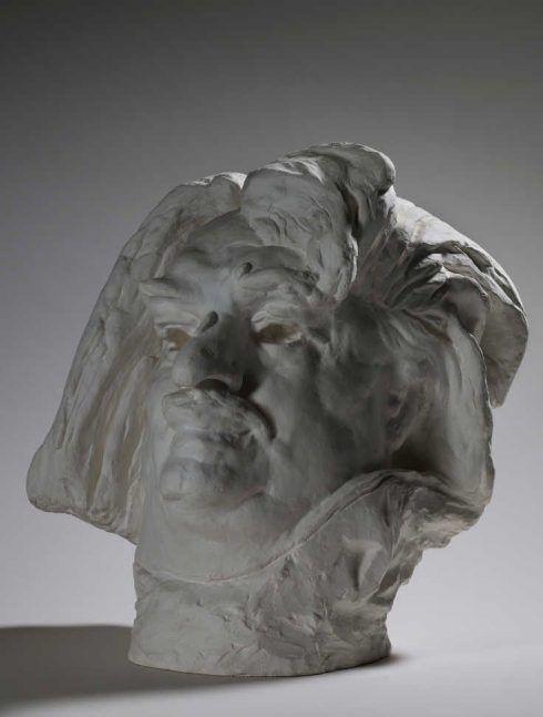 Auguste Rodin, Balzac, monumentaler Kopf, 1898, Gips (Musée Rodin, Paris)