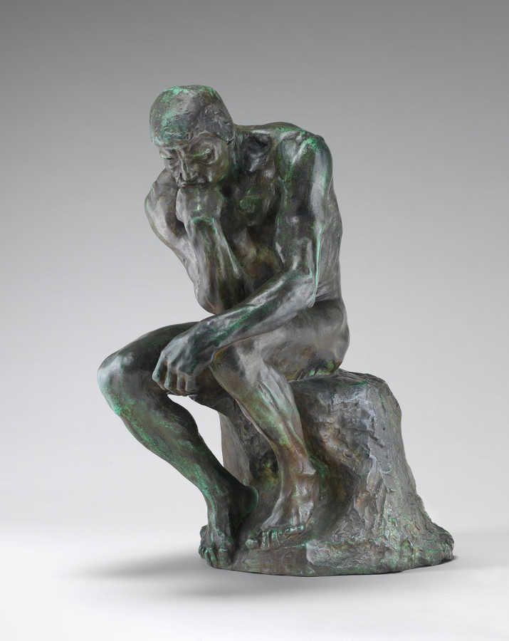 Auguste Rodin, Der Denker, 1901, 71,5 x 36,4 cm (National Gallery of Art, Washington DC)