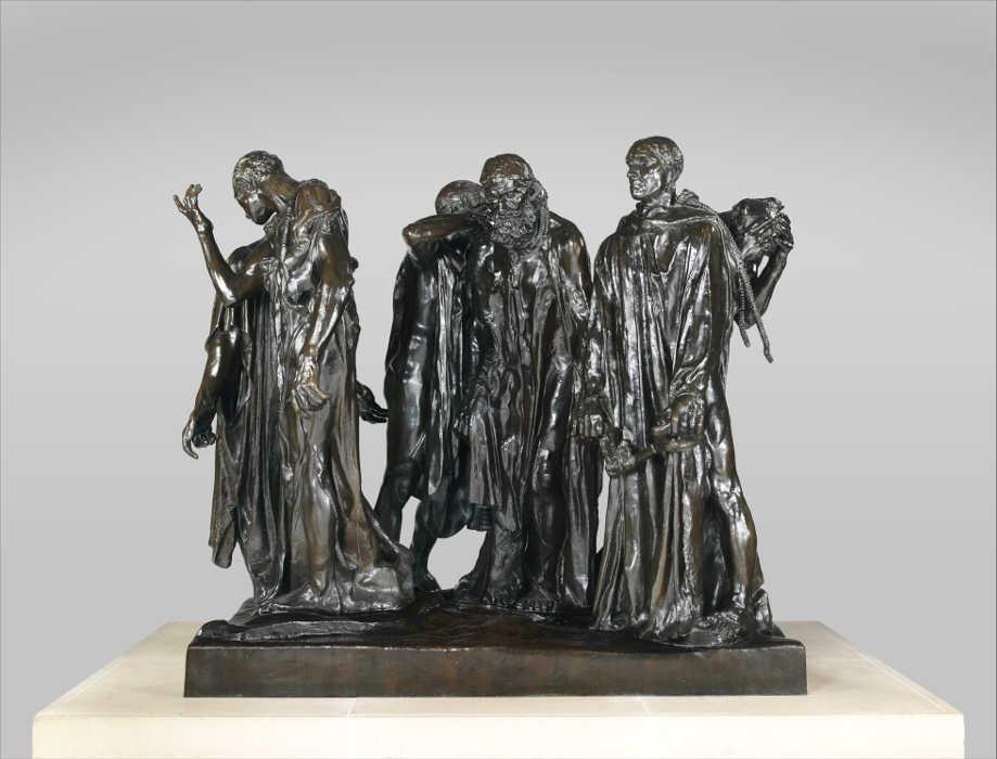 Auguste Rodin, Die Bürger von Calais, modelliert 1884–1895, gegossen 1985, 209.6 x 238.8 x 241.3 cm (Metropolitan Museum of Art, New York)