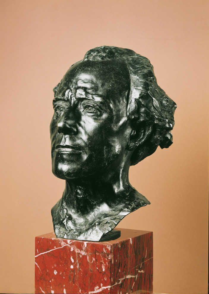 Auguste Rodin, Gustav Mahler, 1909, Bronze (Belvedere, Wien)
