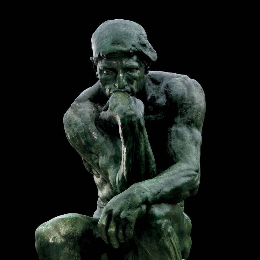 Auguste Rodin, Der Denker, Detail, 1881 (Musée Rodin, Paris)
