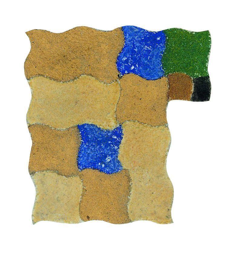 Augusto Giacometti, Abstraktion nach einem Bild von Giotto, 1903, Pastell und Gold auf Papier, 24,5 x 24 cm © Bündner Kunstmuseum Chur © Erbengemeinschaft Nachlass Augusto Giacometti.