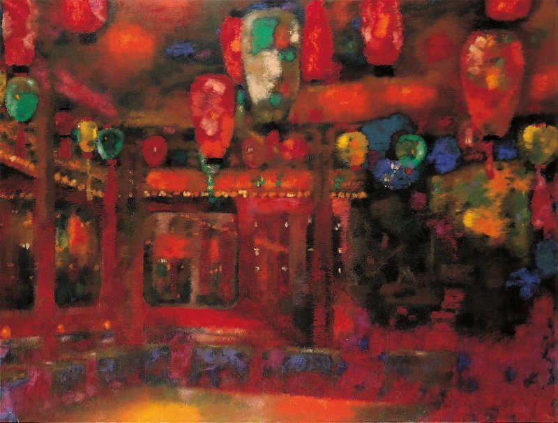 Augusto Giacometti, Die Bar Olympia, 1928, Öl auf Leinwand, 170 x 222,5 cm, Legat des Künstlers © Bündner Kunstmuseum Chur © Erbengemeinschaft Nachlass Augusto Giacometti.