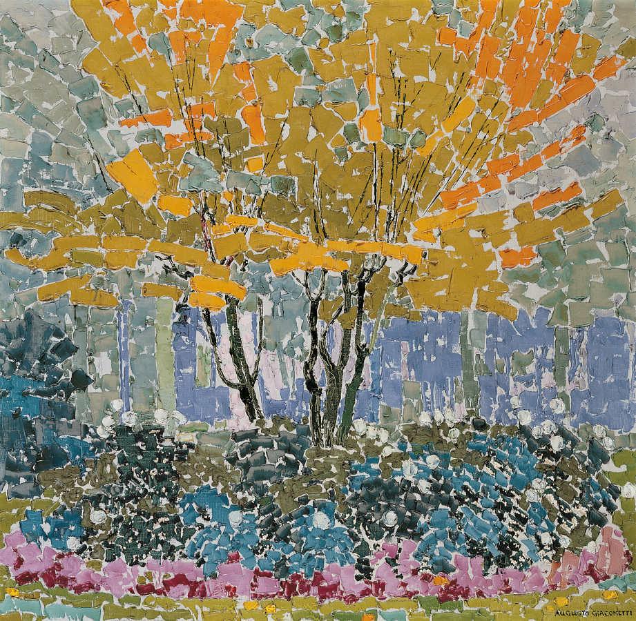Augusto Giacometti, Landschaft (Baum), 1911, Öl auf Leinwand, 70 x 69 cm, Privatbesitz © Erbengemeinschaft Nachlass Augusto Giacometti.