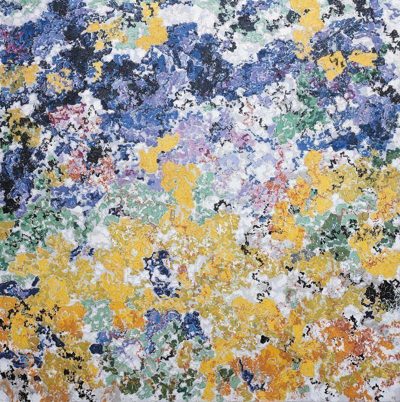 Augusto Giacometti, Fantasia coloristica, 1913, Öl auf Leinwand, 142 x 142 cm, Kunstmuseum St. Gallen, Ernst-Schürpf-Stiftung © Erbengemeinschaft Nachlass Augusto Giacometti.