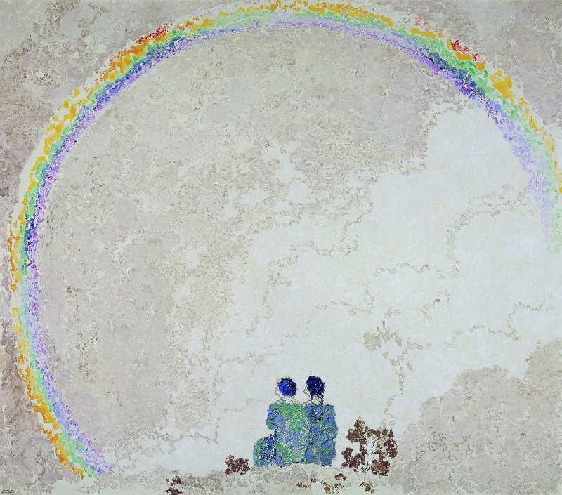 Augusto Giacometti, Regenbogen, 1916, Öl auf Leinwand, 132 x 150 cm, Kunstmuseum Bern, Geschenk dreier Kunstfreunde © Erbengemeinschaft Nachlass Augusto Giacometti.