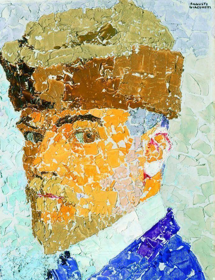Augusto Giacometti, Selbstbildnis, 1910, Öl auf Leinwand, 41 x 31 cm © Bündner Kunstmuseum Chur © Erbengemeinschaft Nachlass Augusto Giacometti.