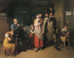 Johann Peter Krafft, Der Abschied des Landwehrmannes, 1813, Öl auf Leinwand 281 x 351 cm © Belvedere, Wien.