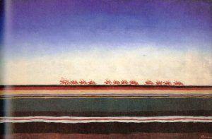 Kazimir Malewitsch, Rote Kavallerie, um 1932, Öl auf Leinwand, St. Petersburg, Staatliches Russisches Museum.