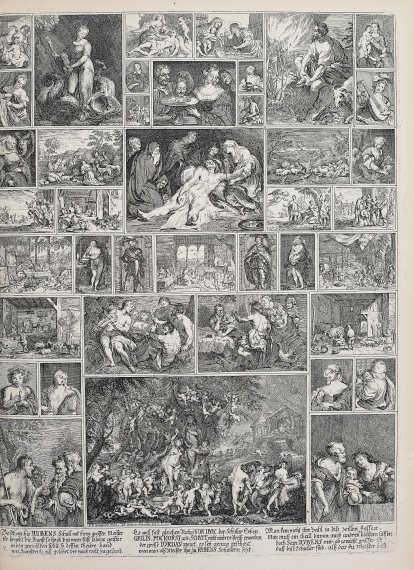 Peter Paul Rubens und Raffael, in: Anton Joseph von Prenner, Prodromus, 1735 Wien (Privatsammlung), Foto: Alexandra Matzner.