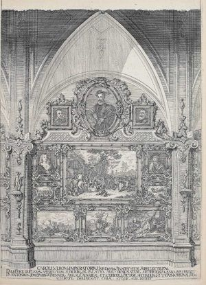 Anton Joseph von Prenner, Theatrum artis pictoriae, 1728–1733 Wien, Zweite Wand (Privatsammlung), Foto: Alexandra Matzner.