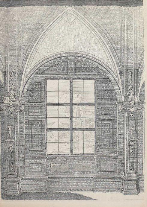 Anton Joseph von Prenner, Theatrum artis pictoriae, 1728–1733 Wien, Ausblick auf St. Michael (Privatsammlung), Foto: Alexandra Matzner.