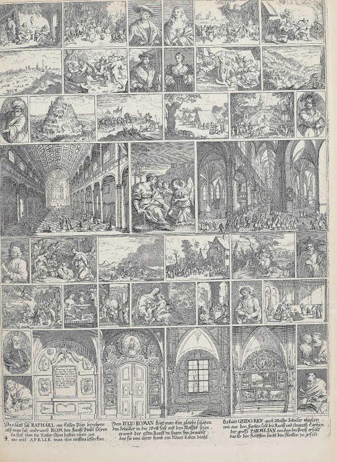 Zusammenfassung des Theatrum artis pictoriae, in: Anton Joseph von Prenner, Prodromus, 1735 Wien (Privatsammlung), Foto: Alexandra Matzner.