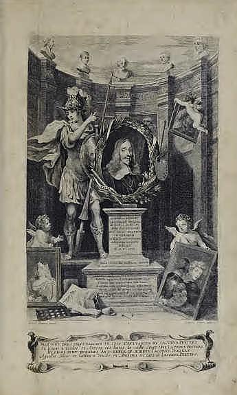 David Teniers der Jüngere, Theatrum pictorium, 1660, Widmungsblatt (Privatbesitz), Foto: Alexandra Matzner.