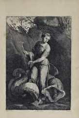 (?) Troyen nach Raffael, Hl. Margarethe, 1660, in: David Teniers d. J., Theatrum pictorium, Brüssel 1660 (Privatsammlung), Installationsansicht: Alexandra Matzner.