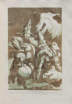 Anne-Claude-Philippe, Comte de Caylus nach Cavalliere d'Arpino Fall des Phaeton, in: Pierre Crozat,Pierre-Jean Mariette, Recueil Crozat, 1729/1742 (BNF, Foto: © Gallica)