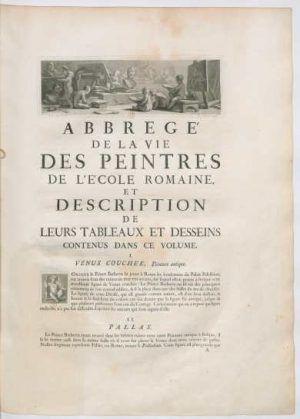 Pierre Crozat, Pierre-Jean Mariette, Recueil d'Estampes (auch: Recueil Crozat), 1729/1742, Einführung (BNF, Foto: © Gallica)