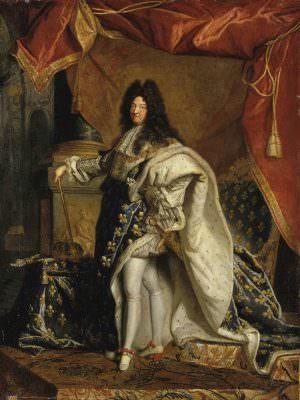 Hyacinthe Rigaud, Ludwig XIV. um 1701–1712, Öl auf Leinwand 131 x 97,3 cm (Châteaux de Versailles et de Trianon, Versailles © bpk | RMN - Grand Palais | Gérard Blot)