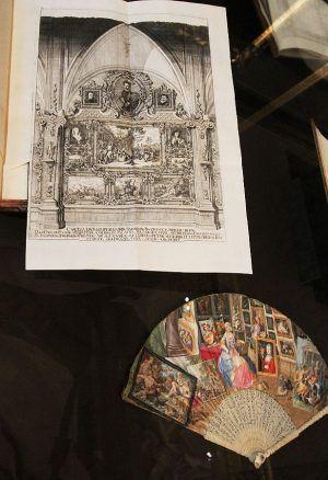 Theatrum artis pictoriae und der Storffer'sche Fächer (Kunsthistorisches Museum), Installationsansicht: Alexandra Matzner.