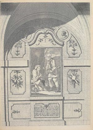 Anton Joseph von Prenner, Theatrum artis pictoriae, 1728–1733 Wien, Altes Ehepaar aus dem Banat (Privatsammlung), Foto: Alexandra Matzner.