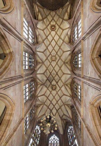 Das Hochchorgewölbe des Freiburger Münsters, Foto: Andreas Lechtape.