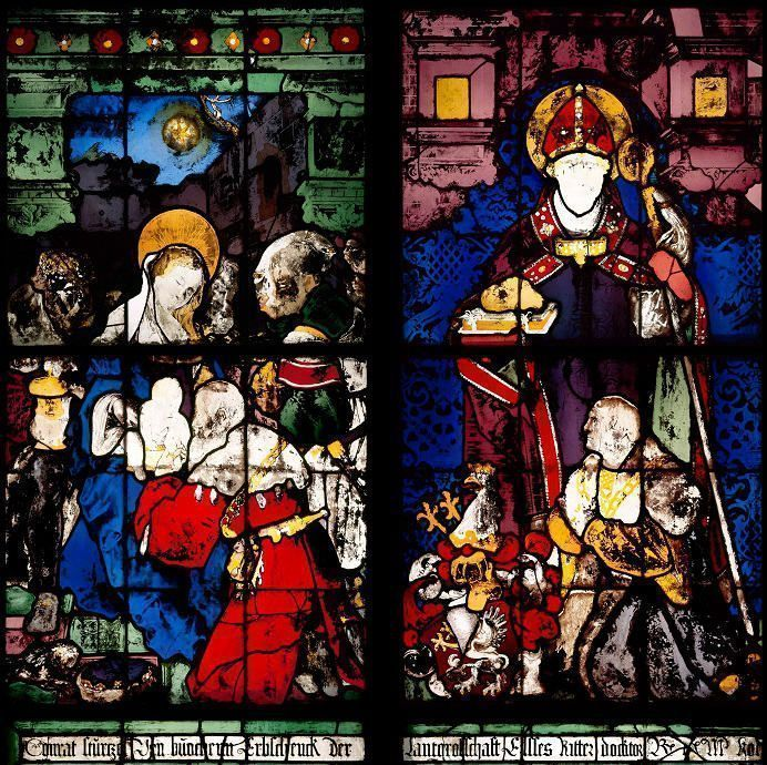 Hans Baldung Grien / Hans von Ropstein, ehemals Stürtzel-Kapelle links, 1528/30, Foto: Ulrich Engert © Corpus Vitrearum Deutschland, Freiburg i. Br.