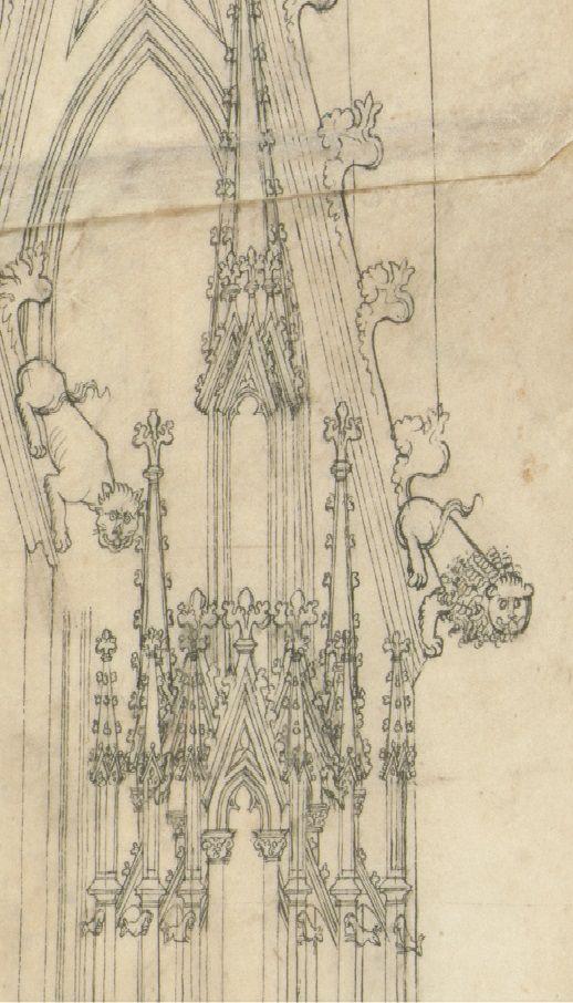 Der erste Wiener Riss, Detail, Akademie der bildenden Künste, Wien, Kupferstichkabinett.