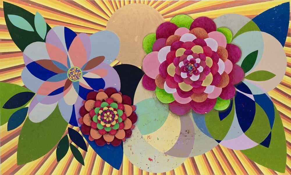 Beatriz Milhazes, Gamboa Seasons, Summer Love, 2010, Acryl auf Leinwand, 300 x 500 cm, Foto © 2011, Sergio Araújo, Courtesy of the artist