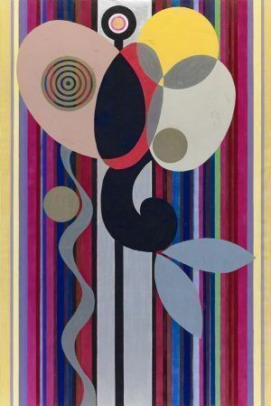 Beatriz Milhazes, Gamboa Seaons, Winter Love, 2010, Acryl auf Leinwand, 300 x 200 cm, Foto © 2011, Sergio Araújo, Courtesy of the artist