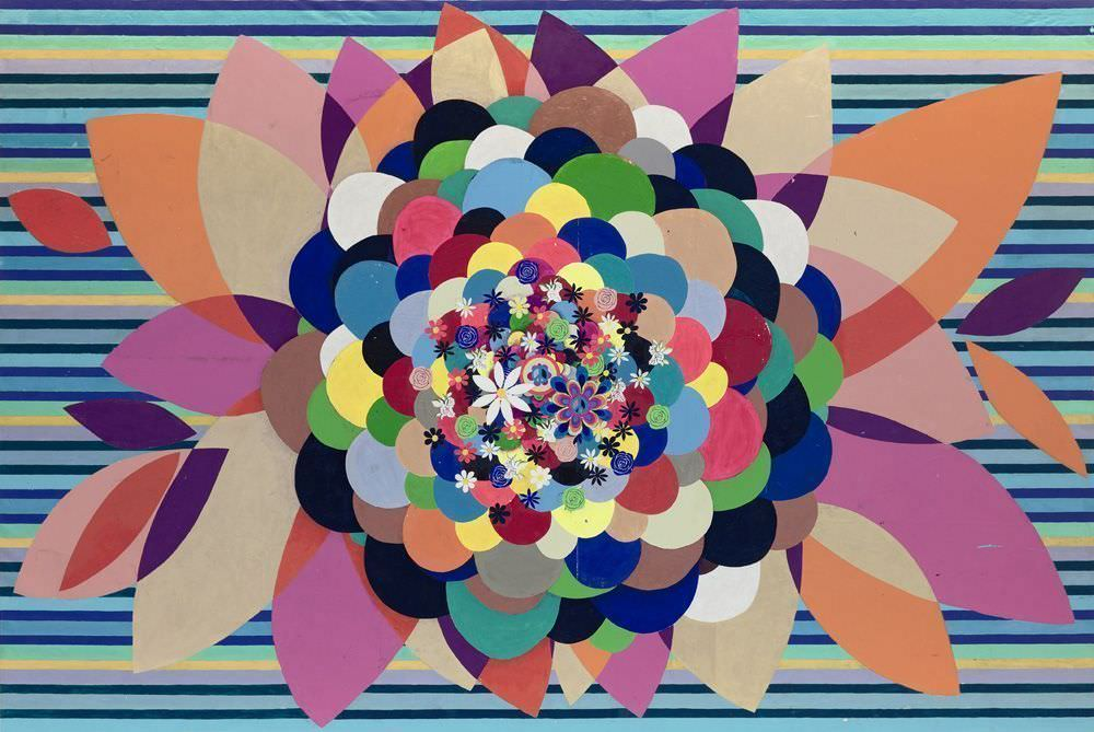 Beatriz Milhazes, Gamboa Seasons, Spring Love, 2010, Acryl auf Leinwand, 300 x 450 cm, Foto © Goritzia Filmes, Courtesy of the artist, Foto © 2011, Serge Hasenböhler, Basel