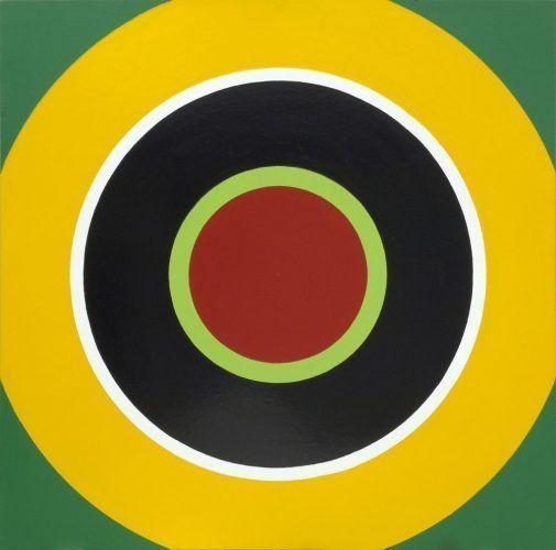 Poul Gernes, Zielscheibenbild (Target) B, 1966-68, Öl auf Masonit, 122 x 122 cm, Daimler Kunst Sammlung, Foto: MUMOK © Poul Gernes.
