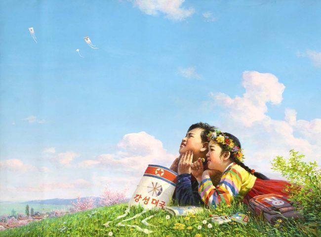 Ri Sok Nam, Blauer Himmel / The blue sky over my country, 2005 © Korean Art Gallery, Pyongyang