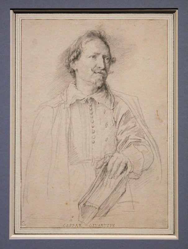 Antonis van Dyck, Der Maler Artus Wolfordt, um 1627-35, Kreide und Pinsel, Installationsansicht in der Albertina, Foto: Alexandra Matzner.