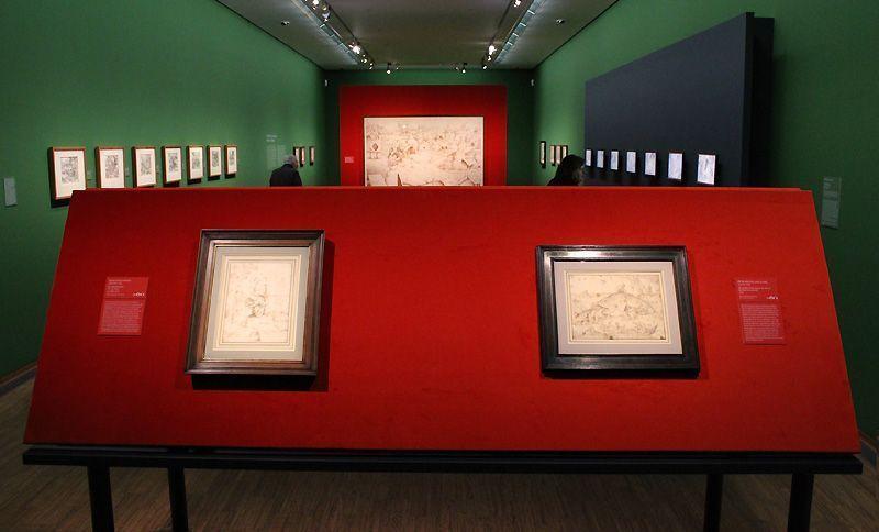 "Installationsansicht Albertina ""Bosch - Bruegel - Rubens - Rembrandt"", Foto: Alexandra Matzner."