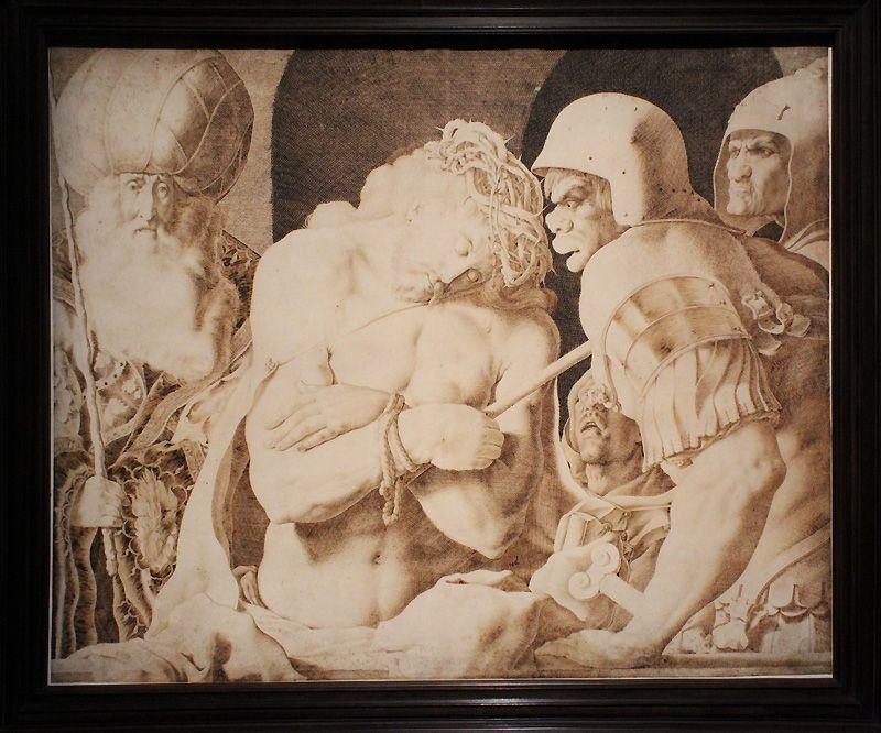 Jacob de Gheyn II, Ecce homo, 1616, Silberstift, Feder auf Pergament, Installationsansicht in der Albertina, Foto: Alexandra Matzner.