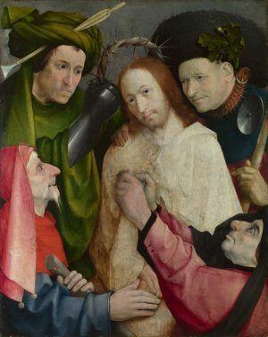 Hieronymus Bosch, Verspottung Christi (Die Dornenkrönung), um 1510, Öl auf Holz, 73.8 x 59 cm (The National Gallery, gekauft 1934, London)
