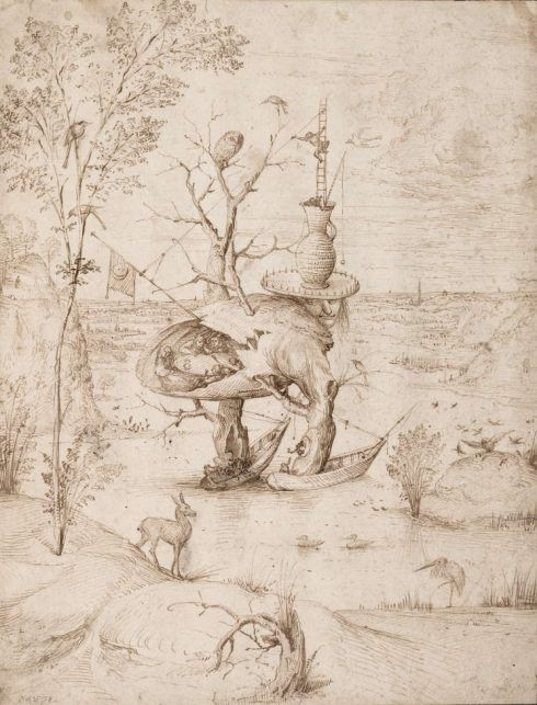 Hieronymus Bosch, Baum-Mann, um 1500–1510, Feder, braune Tinte, 227 x 211 mm (Albertina, Wien)