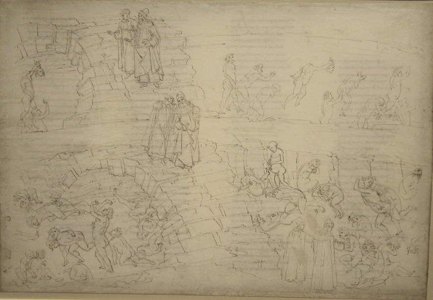 Sandro Botticelli, Illustrationen zu Dante Alighieris Divina Commedia, um 1480 - um 1500, Purgatorio X (Marmorreliefs, Bestrafung der Stolzen) (Kupferstichkabinett, Berlin), Foto: Alexandra Matzner.
