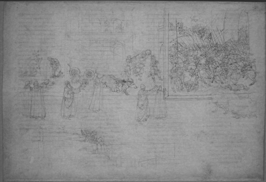 Sandro Botticelli, Divina Commedia, Purgatorio X (Marmorreliefs, Bestrafung der Stolzen), um 1480 - um 1500 (Kupferstichkabinett, Berlin), Foto: Alexandra Matzner.