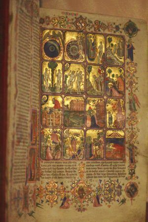 Hamilton-Bibel, Neapolitanisch, 1350, 37,5 x 26,5 cm (Kupferstichkabinett, Berlin), Foto: Alexandra Matzner.