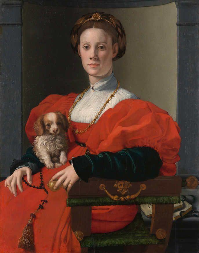 Agnolo Bronzino (1503–1572), Bildnis einer Dame in Rot (Francesca Salviati?), um 1533, Öl auf Pappelholz, 89,8 x 70,5 cm Städel Museum, Frankfurt am Main Foto: Städel Museum – ARTOTHEK.